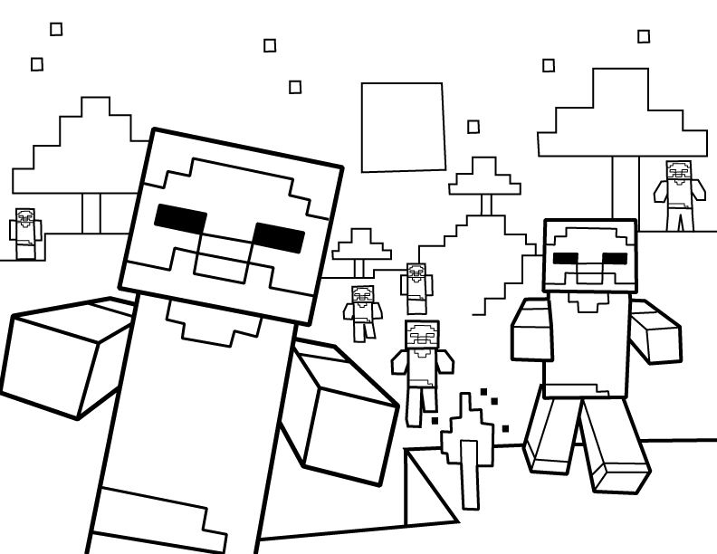 Minecraft Coloring Pages Minecraft Coloring Pages Free