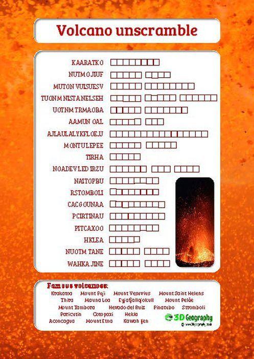 volcano worksheet for kids | volcano worksheets KS2 | volcano ...