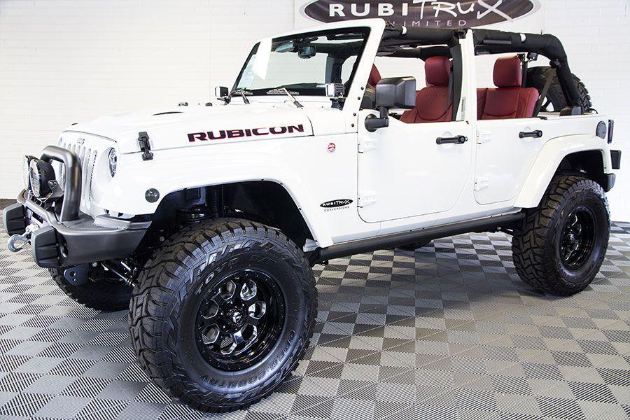 2016 Jeep Wrangler Rubicon Hard Rock Unlimited White Jeep