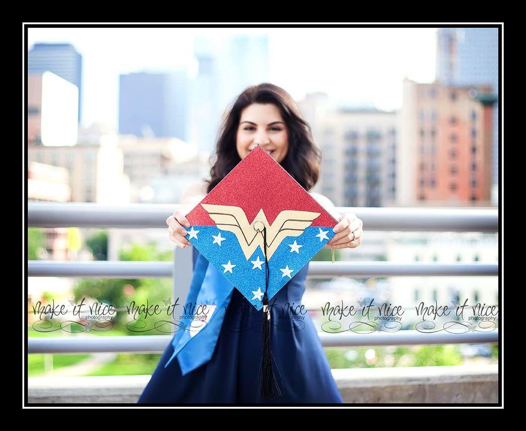 Wonder Woman graduation cap Nurse graduation cap