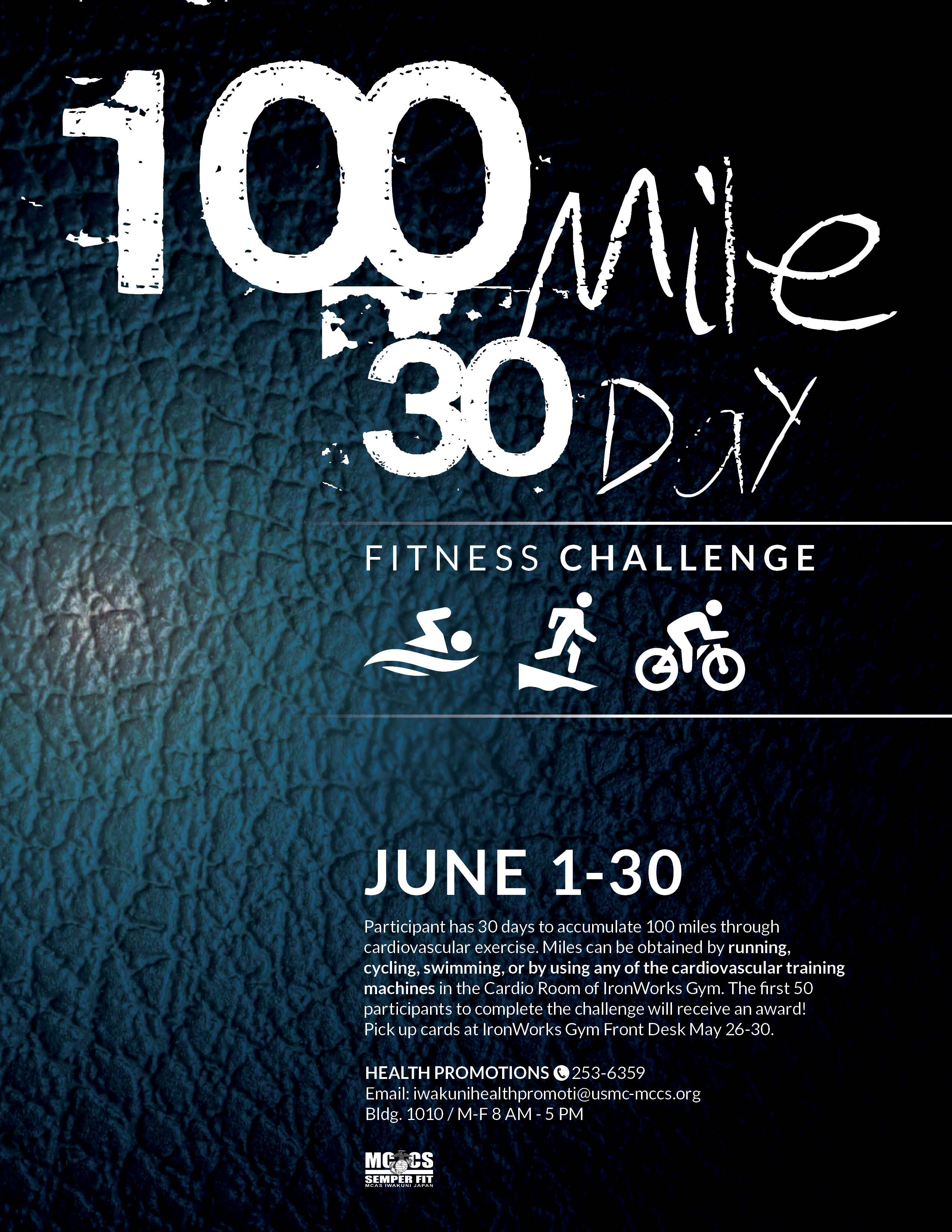 100 Mile 30 Day Challenge