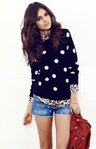 Sofia Arellano ♥ polka dots + leopard