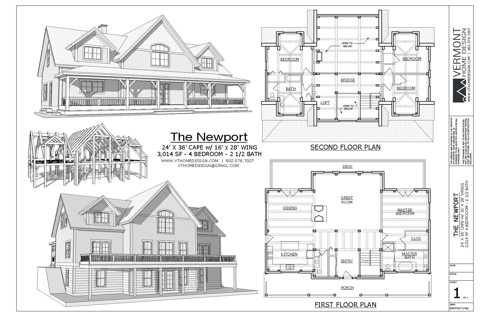 The Newport House Plan | Timber Frame | Total Living Area: 3,015 sq ...