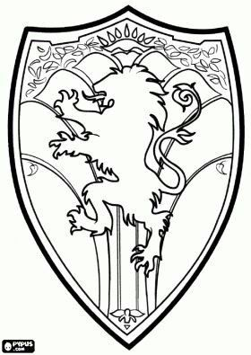 Narnian Shield Lion Witch Wardrobe Chronicles Of Narnia Coloring Pages