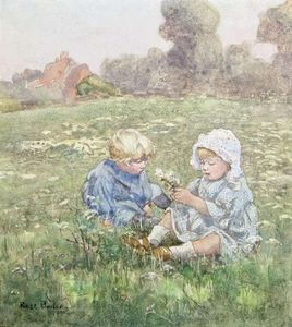 Rose Maynard Barton - Two Children In A Pasture