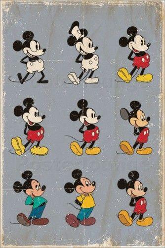 Mickey Mouse Evolution Rainbow Pinterest Mickey Mouse