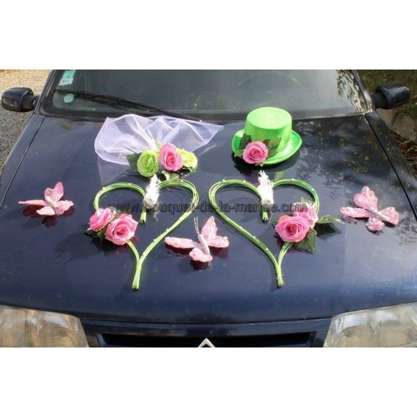 pin by bouquet de la mari e on d coration fleurs voiture. Black Bedroom Furniture Sets. Home Design Ideas