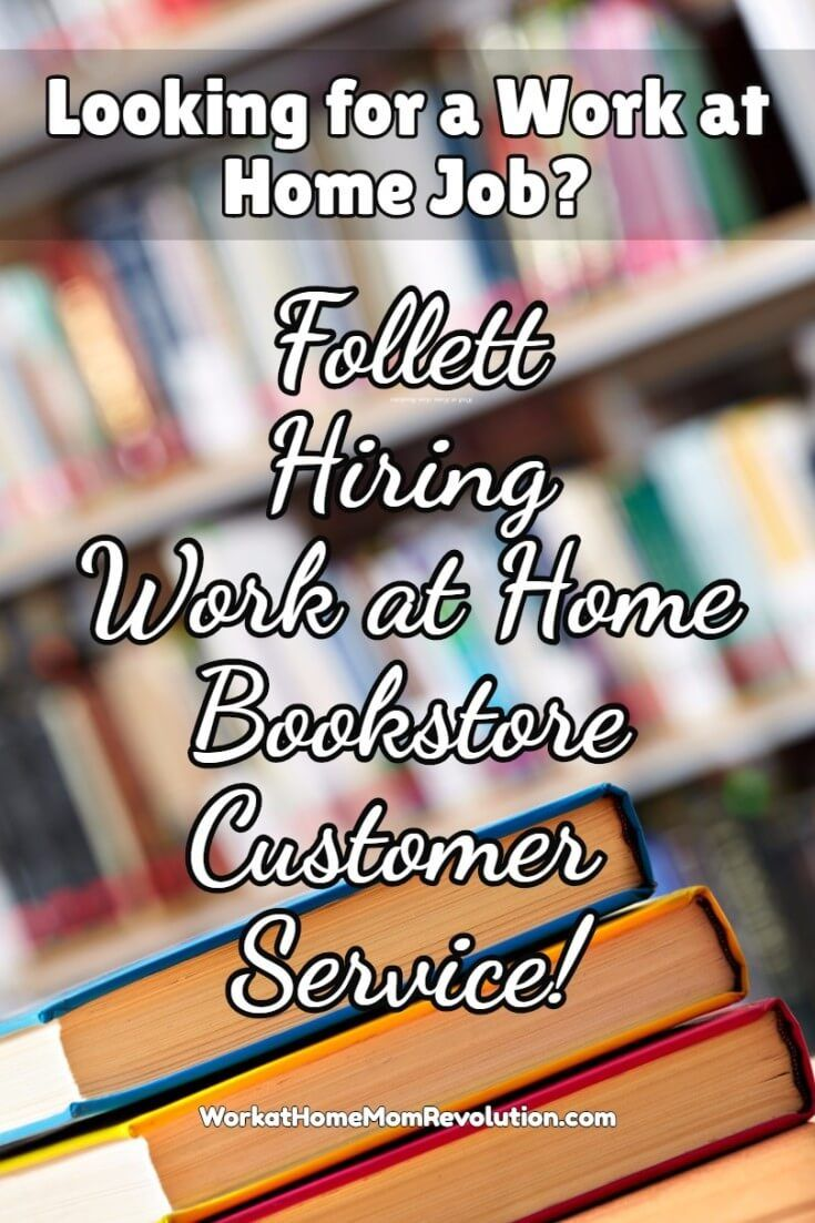 Work At Home Bookstore Customer Service Jobs With Follett