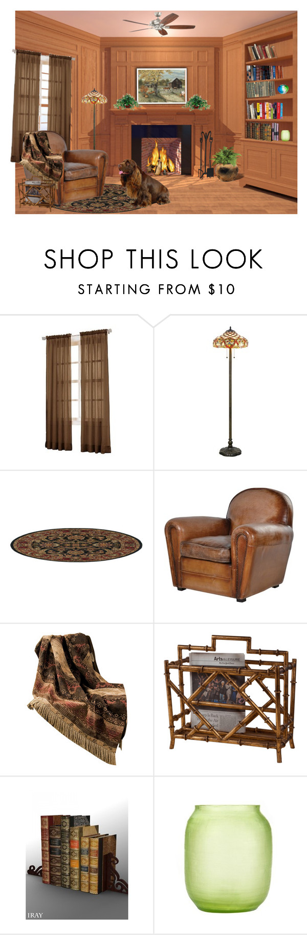 """""""Reading Nook"""" by sjlew ❤ liked on Polyvore featuring interior, interiors, interior design, home, home decor, interior decorating, No. 918, HiEnd Accents, Dessau Home and Bambola"""