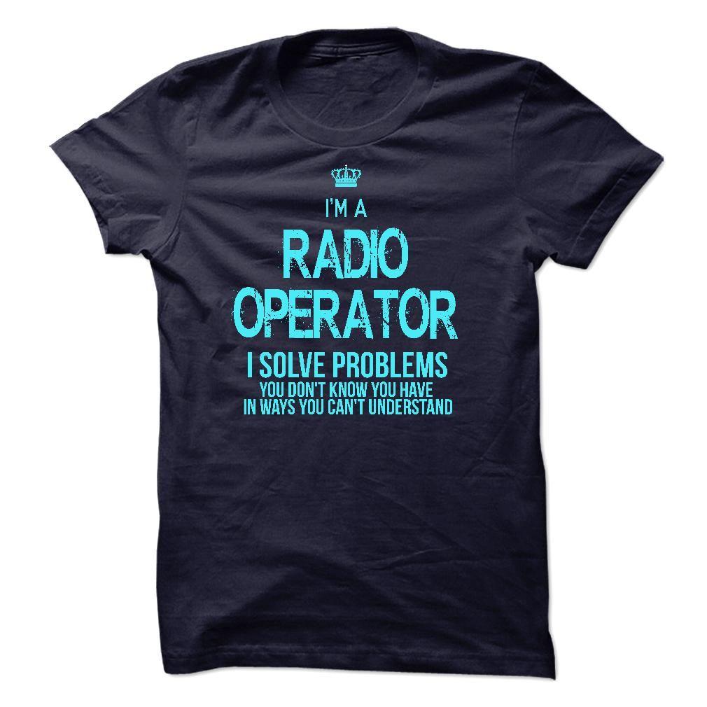 I am A RADIO OPERATOR T-Shirts, Hoodies. GET IT ==► https://www.sunfrog.com/LifeStyle/I-am-aan-RADIO-OPERATOR-57313619-Guys.html?id=41382
