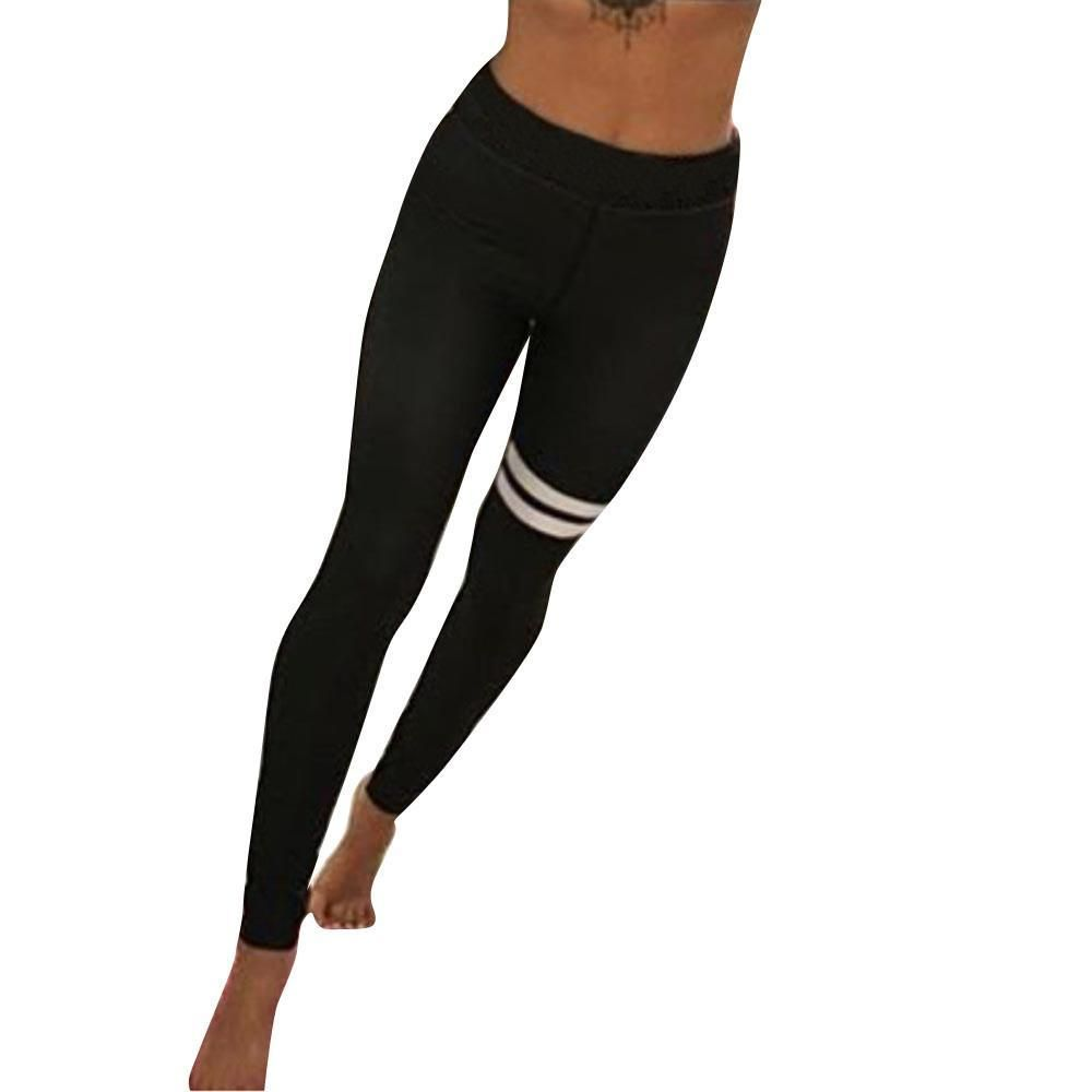Damen Fitness Leggings Push Up Yoga Jogginghose Leggins Frauen Trainingshose DE