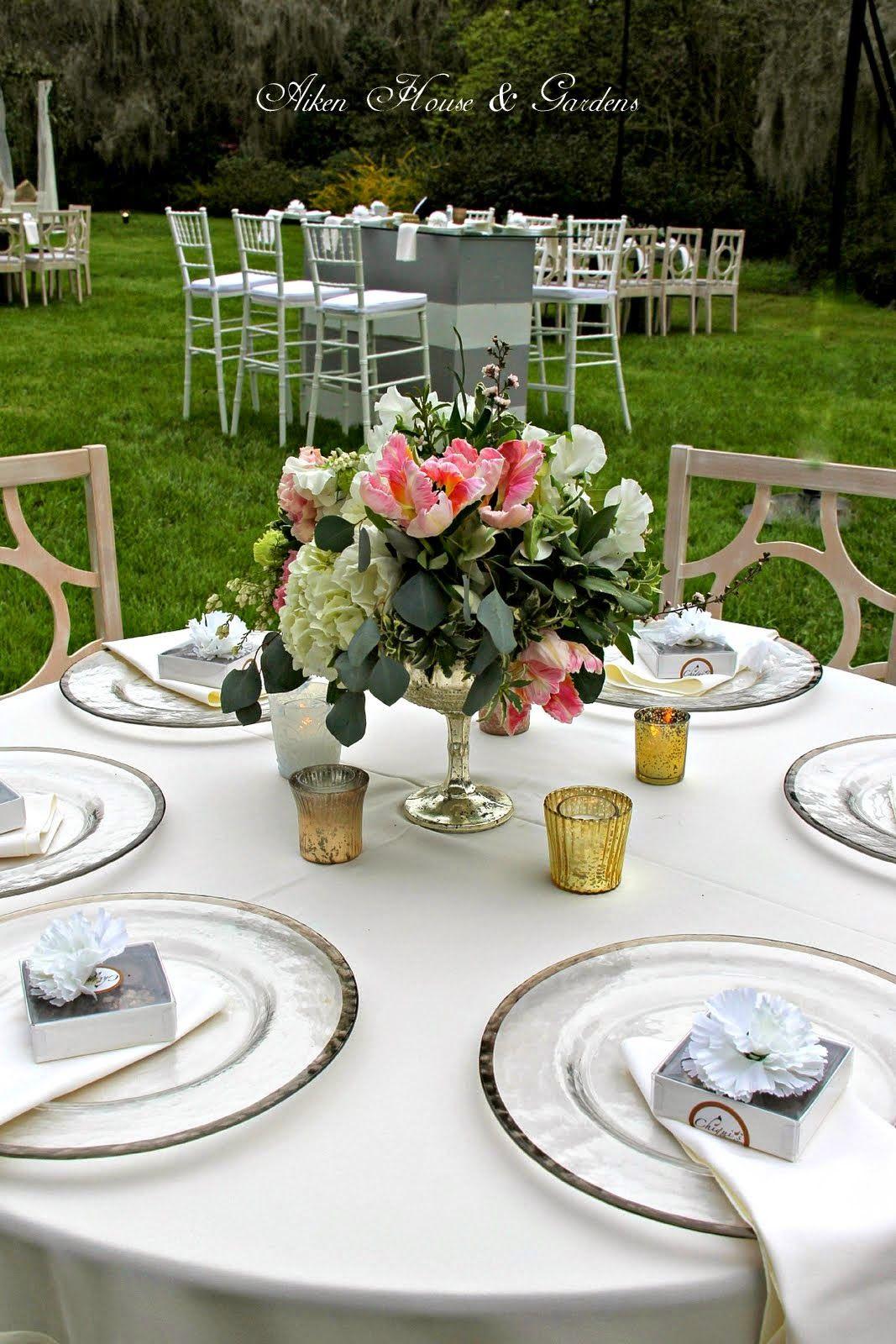 A Charleston Wedding Greenery wedding centerpieces