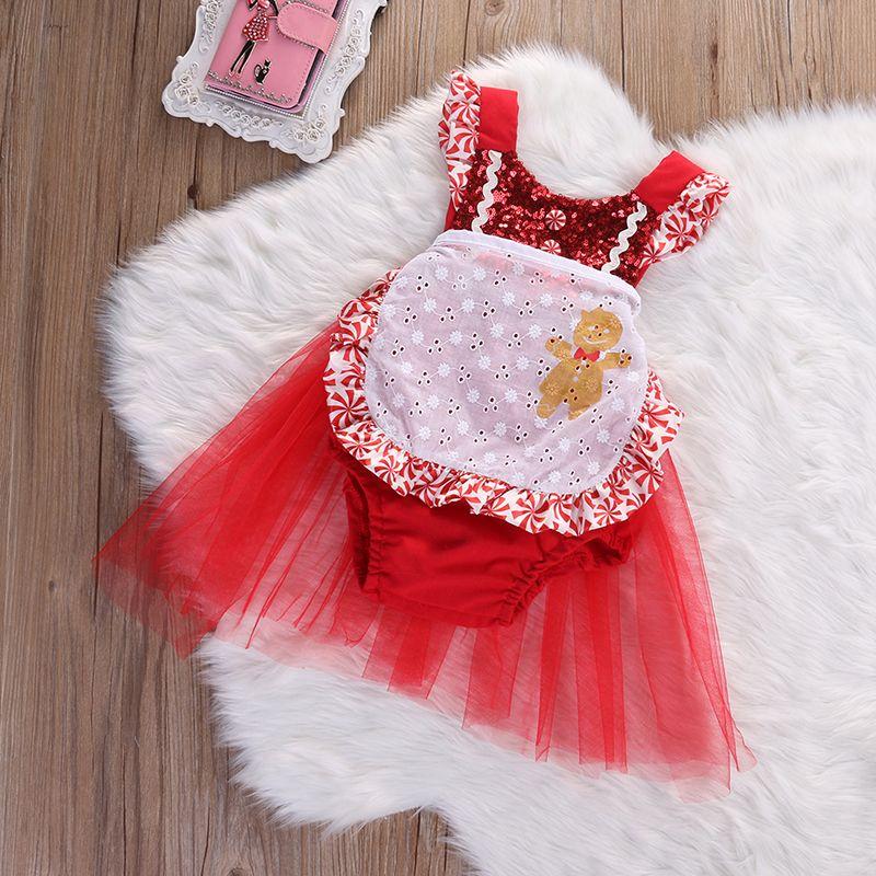9525fee67 Little Miss Gingerbread Sequin Tutu Romper