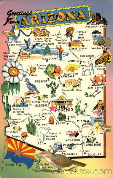 License Plate State Map.Arizona State Slogan The Grand Canyon State Also On Its License