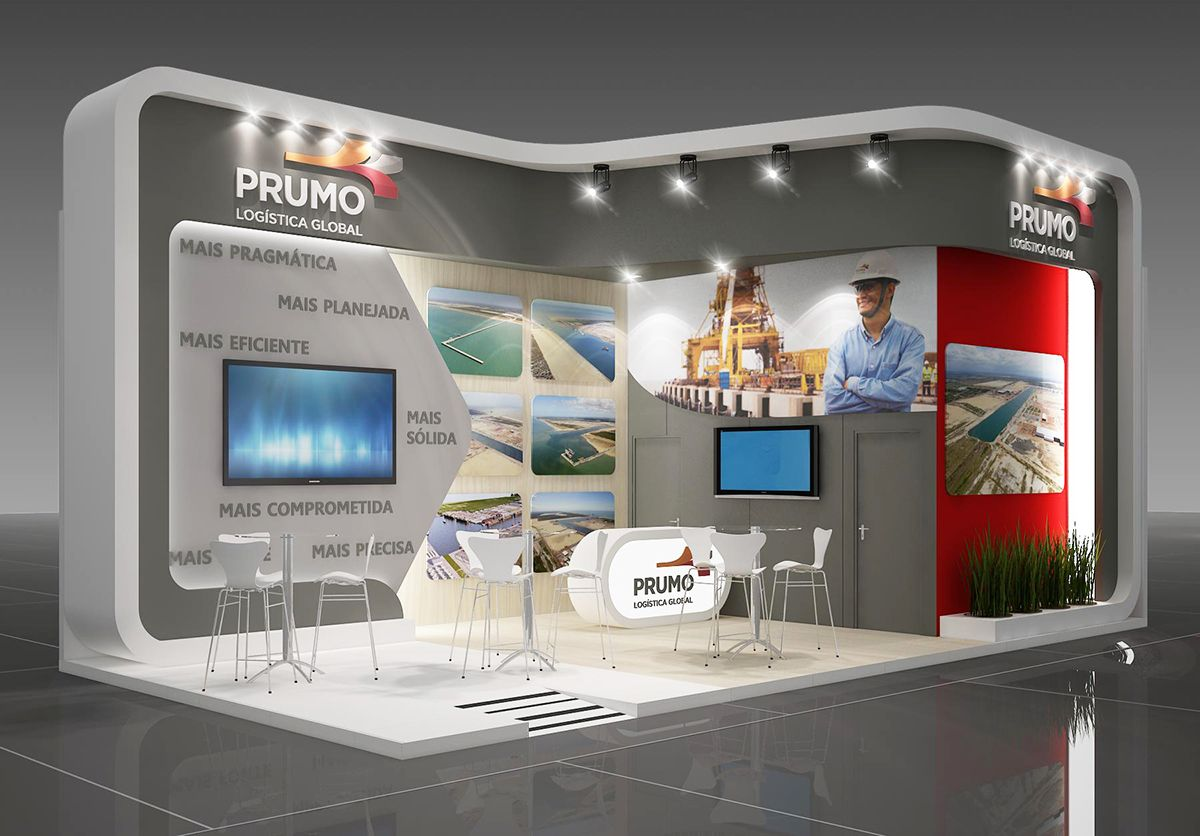 Exhibition Stall On Behance : Prumo logistica on behance exhibition booth pinterest