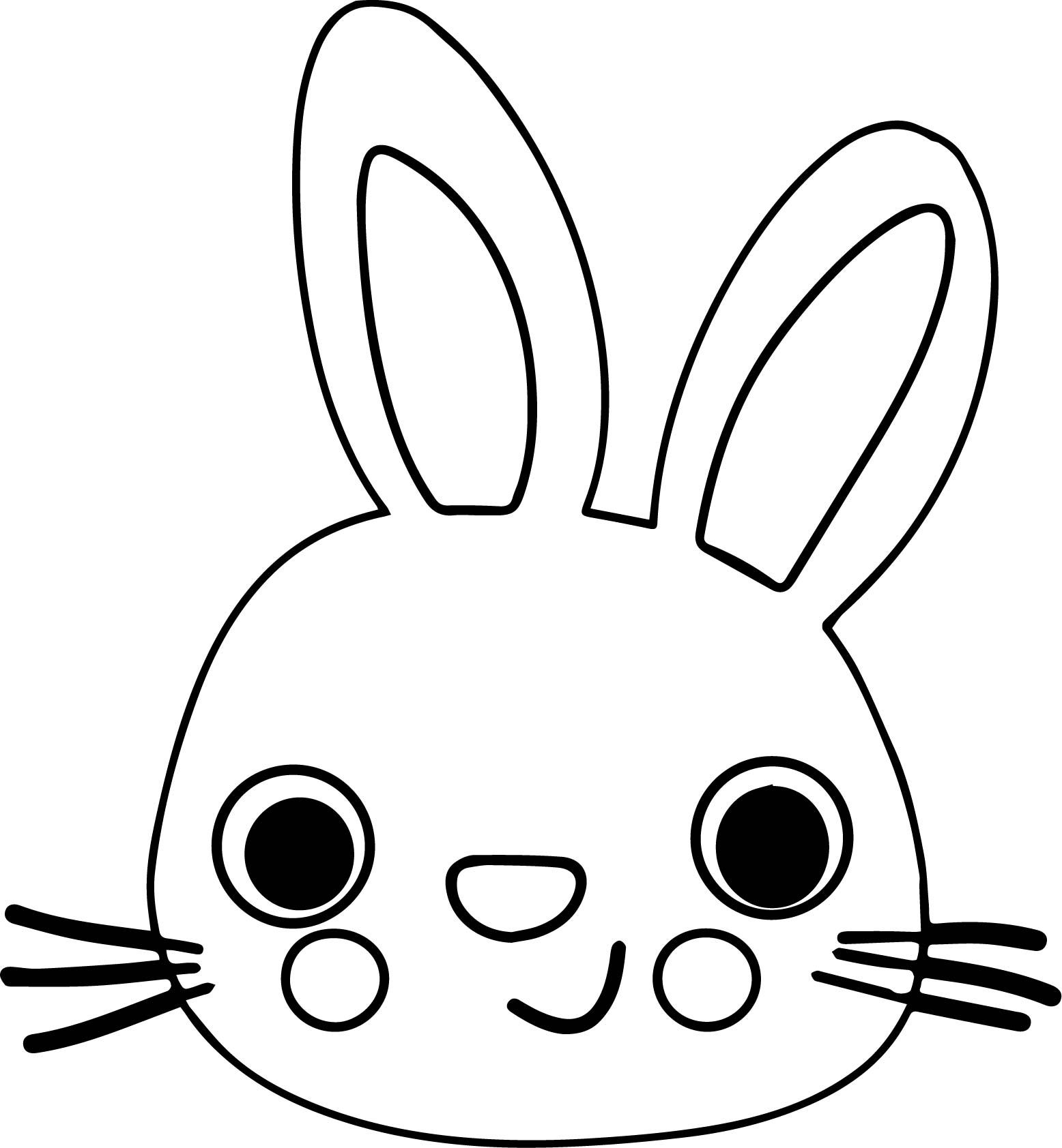 Nice Bunny Face Coloring Page Bunny Face Easter Bunny Colouring Coloring Pages