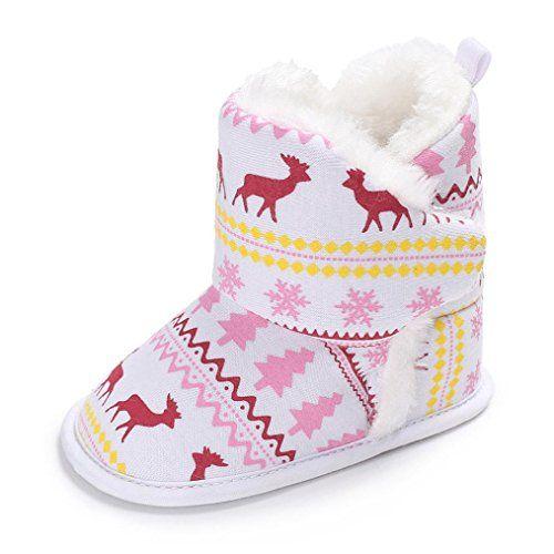 Transer ® Noël bottes  Elk chaussures bébé garçon fille Soft bottes  Noël  100 1508d8 b73f13e8a175