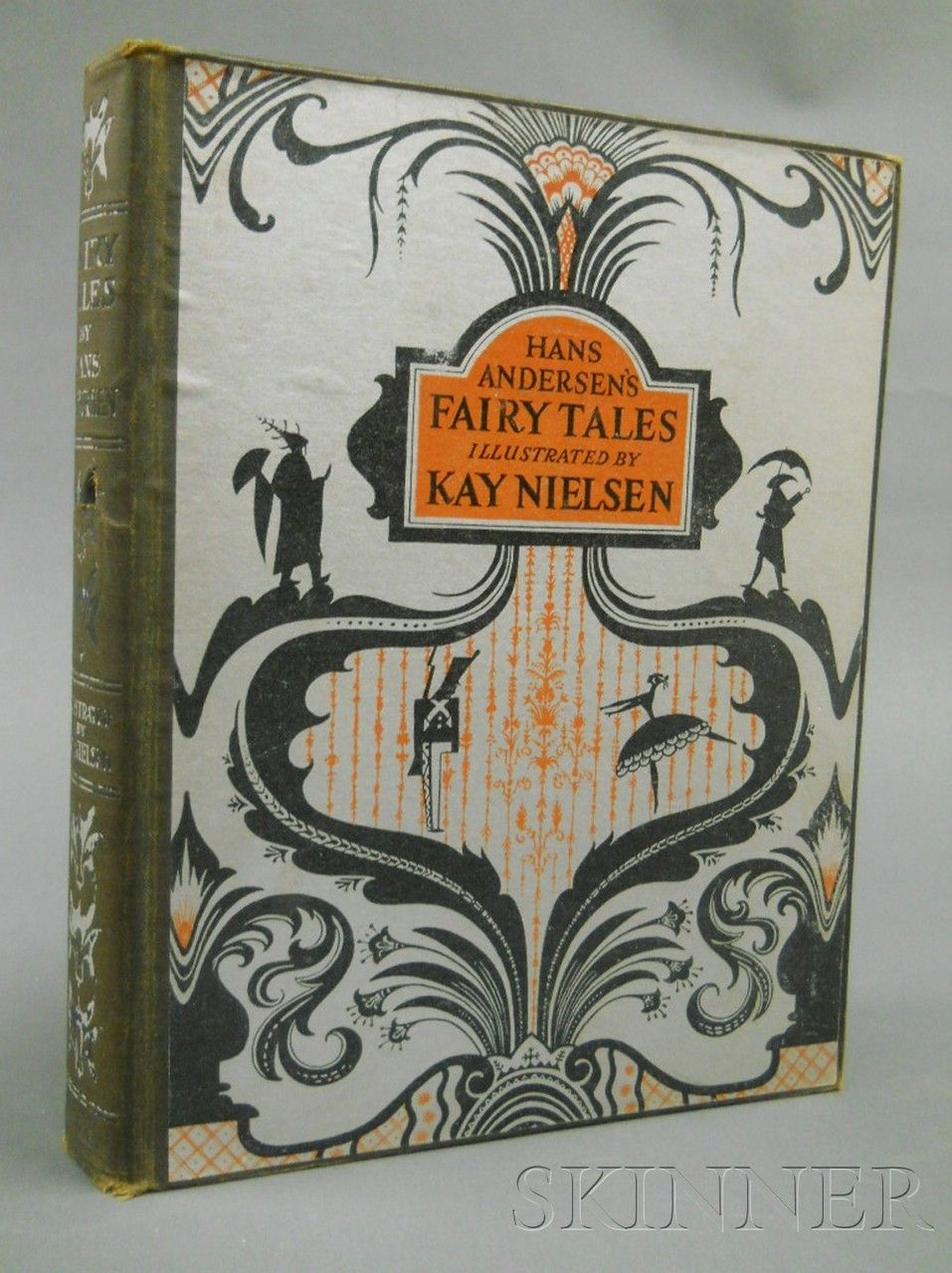 Fairy Tales by Hans Andersen, New York: George Doran Company, 1924.Illustrated by Kay Nielsen.First trade edition, original cloth and pictorial boards, with twelve mounted color plates. Kay Nielsen (Denmark, 1886-1957), in 1924,exhibited at the Leicester Galleries for work on Hans Anderson's Fairy Tales. In 1925, he completed 12 color plates for Hansel and Gretel: Stories from the Brothers Grimm.