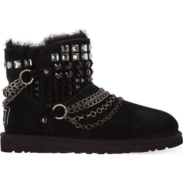 Ugg Swarovski Mini ankle boots (6 530 UAH) ❤ liked on Polyvore featuring shoes, boots and ankle booties