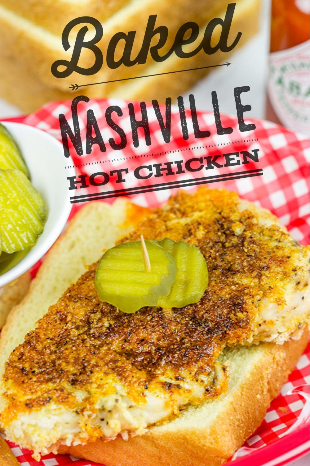 Baked Nashville Hot Chicken Music City Fave But A Lot Healthier Nashville Hot Chicken Nashville Hot Chicken Recipe Hot Chicken Recipe