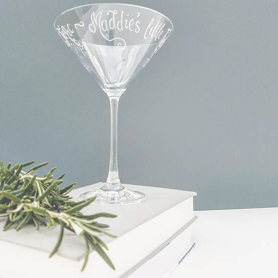 Personalised Martini Cocktail Glass Gift Birthday Gift For Cocktail Lover  Happy Hour