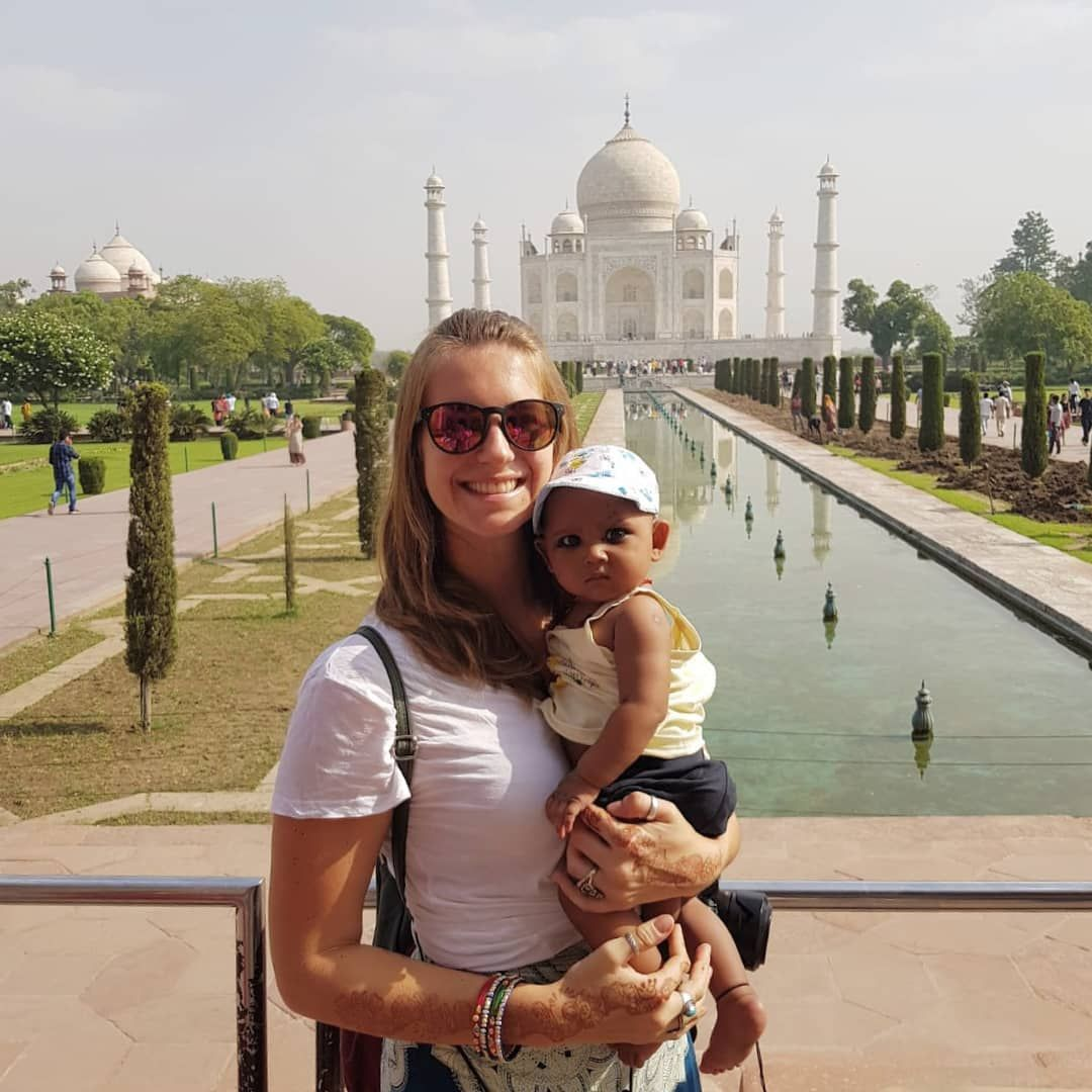 Just hanging out in 50 degree heat at the Taj Mahal with ...