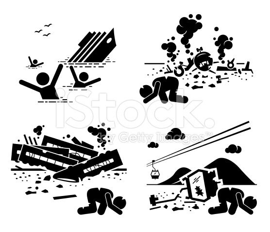 Stock Illustration 51327092 Disaster Accident Tragedy Ship Airplane Train Cable Car Jpg 556 477 Pixels Stick Figures Pictogram Stick Drawings