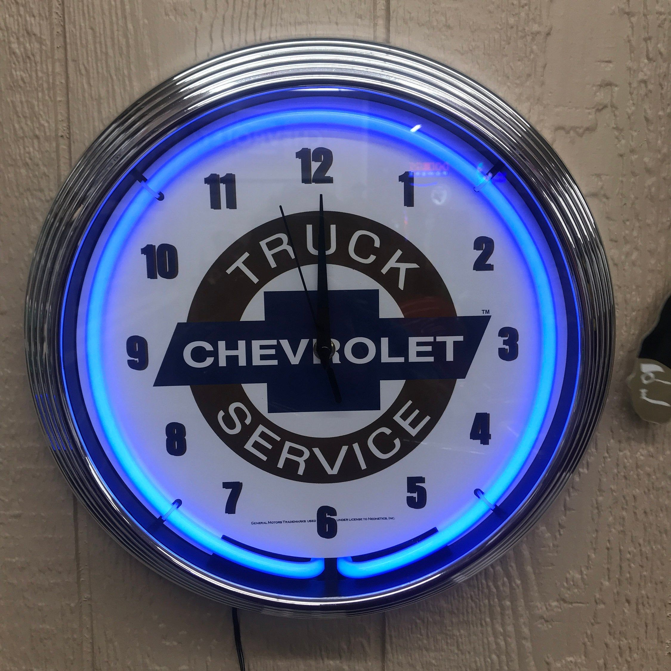 Chevrolet Truck Service Neon Clock 15 New Chevy Trucks Chevy Signs Gifts For Dad Gifts For Him Chri Chevy Trucks New Chevy Truck Custom Chevy Trucks