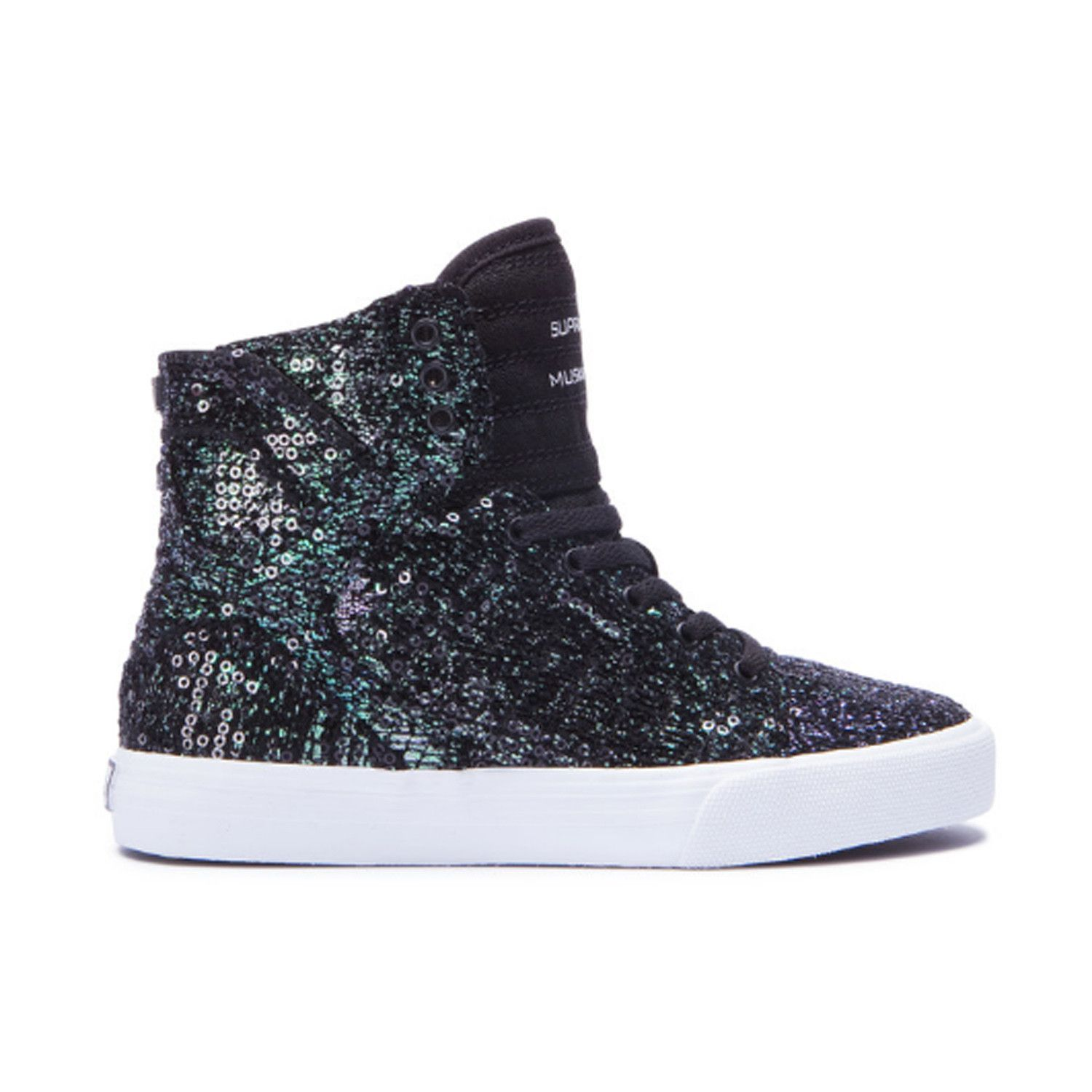 SUPRA Skytop Youth/Kids | Black Sequin (58002-098-M)