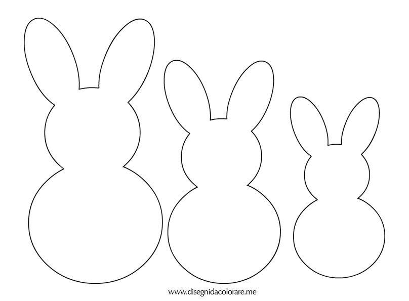 Molto conigli-sagome | Lavoretti di Pasqua | Pinterest | Sagome, Conigli  NE34