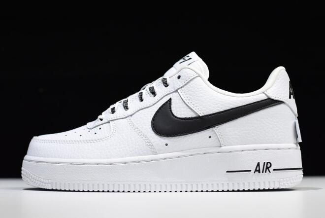 Womens Nike Air Force 1 Low White Black 820438 108 | Sko