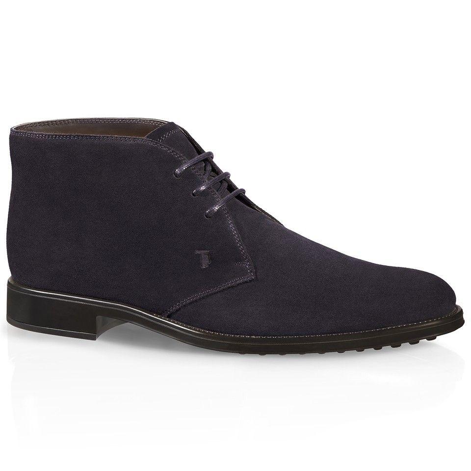 Blue Suede Italian Designer Winter Men Shoes