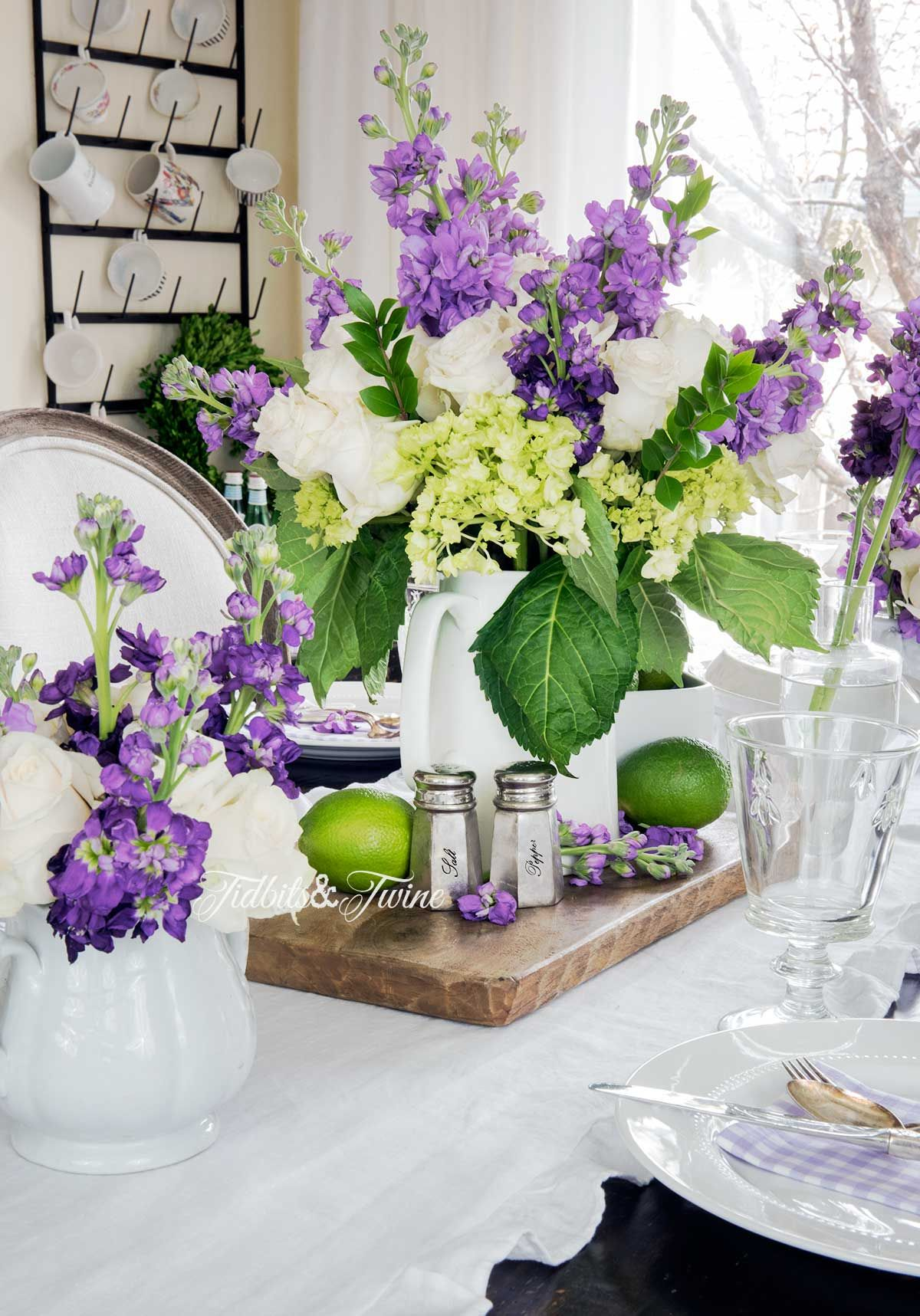 Tidbits Twine Spring Dining Room Table Ideas 2 Site 4 Spring Table Centerpieces Spring Table Purple Dining Room