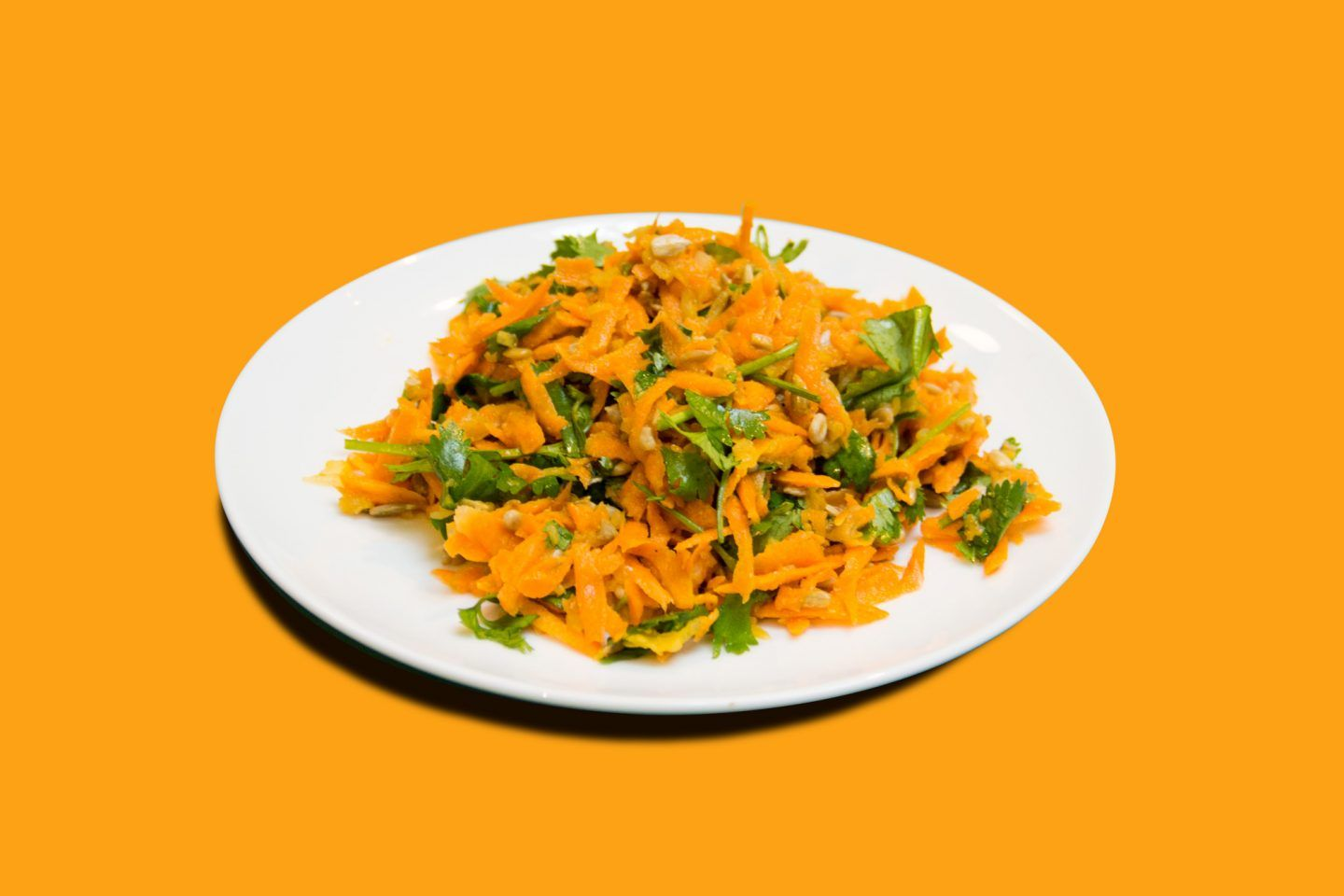 Grated carrots make a great salad.