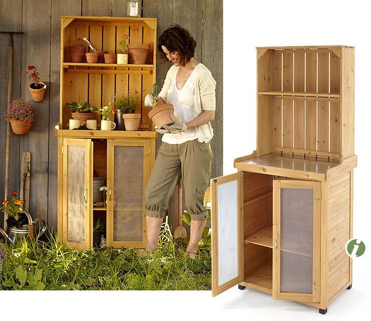 Das Kann Man Sicher Auch Selbst Bauen Werde Es Mal Versuchen Gartenschrank Schrank Regale Schrank Bauen