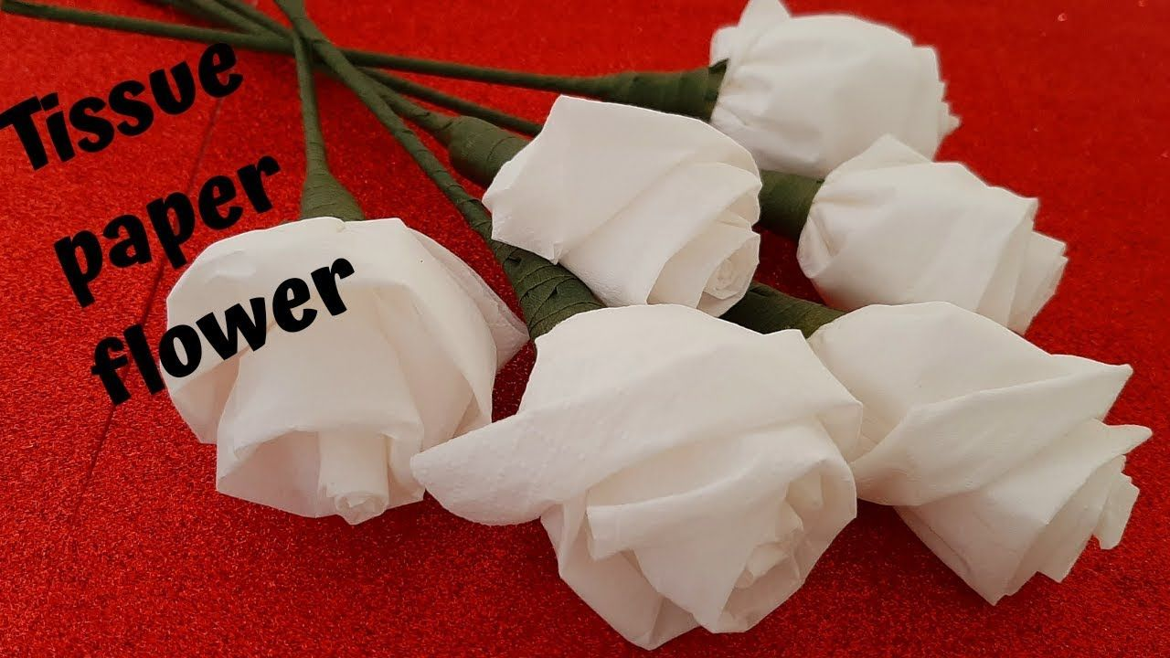Tissue paper rose / Pinky 360