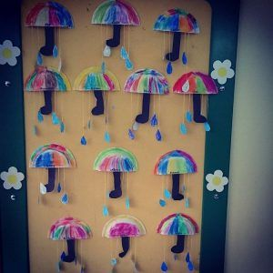 paper-plate-umbrella-craft & paper-plate-umbrella-craft | Fall craft idea for kids | Pinterest ...