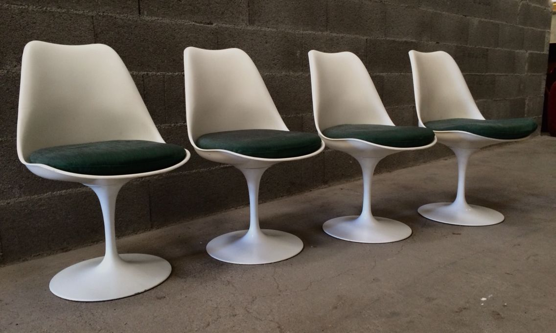 Cheap Chaises Tulip Eero Saarinen Dition Knoll Brocante With Tulipes