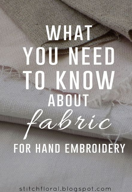 What you need to know about hand embroidery fabrics