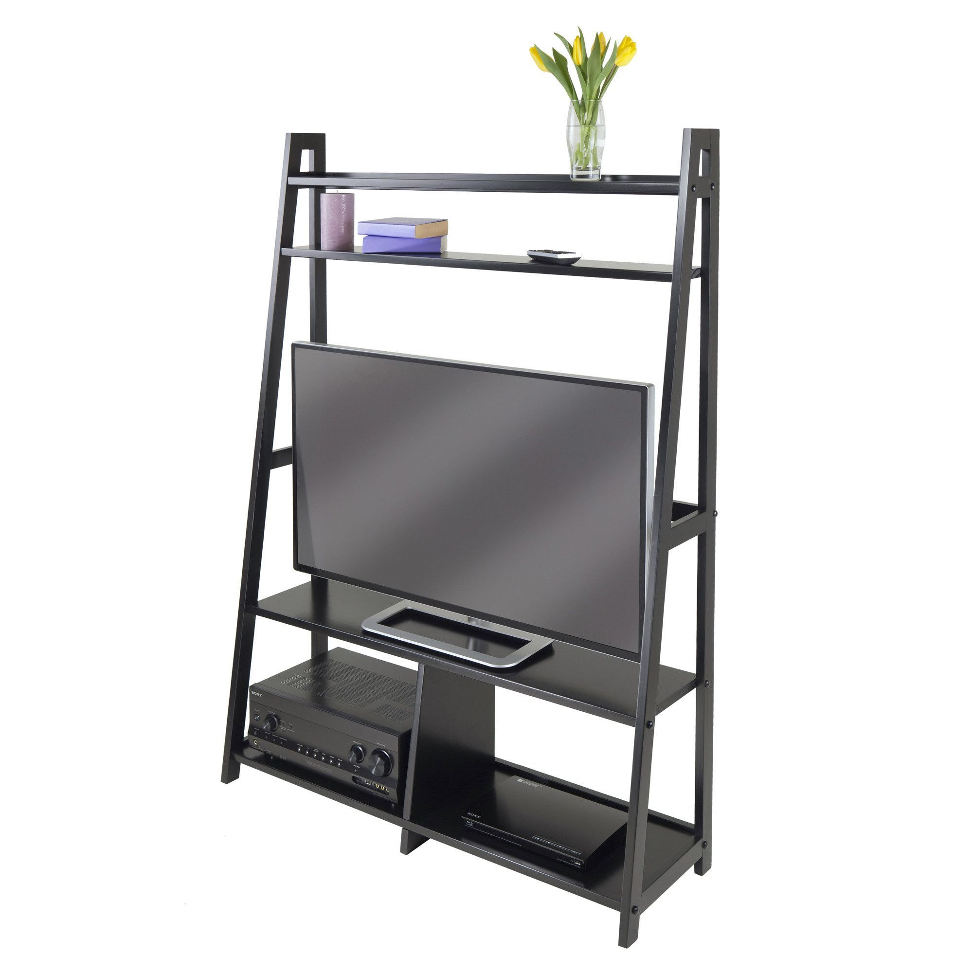 Adam TV Stand A Frame with Shelves | Perfect TV Stands For Your Home ...