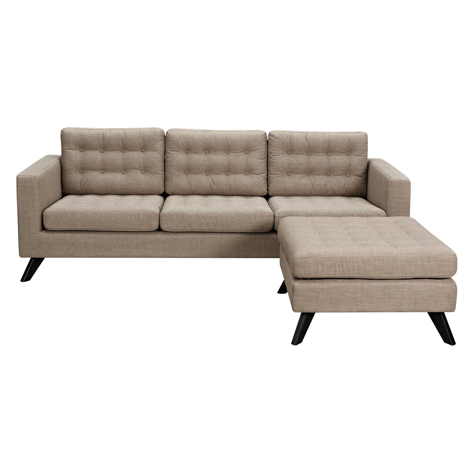 office sofa set. Mina Sofa Light Sand Set - Black Office