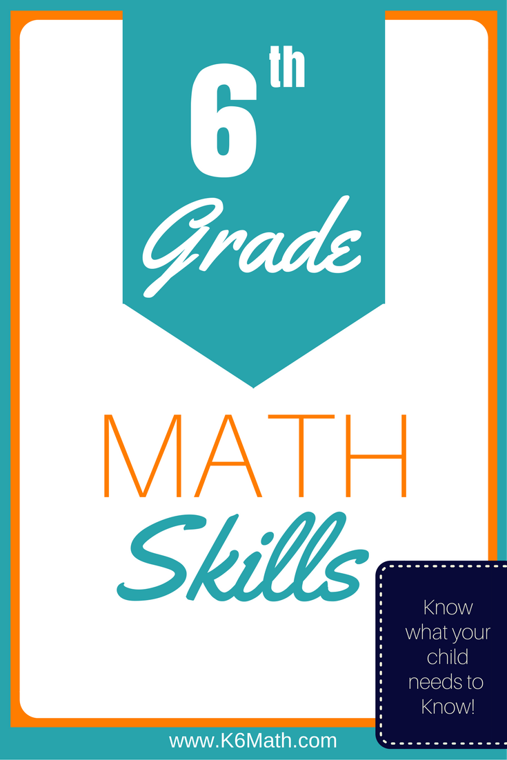 Know the 6th Grade Skills required for Elementary Maths | Elementary ...