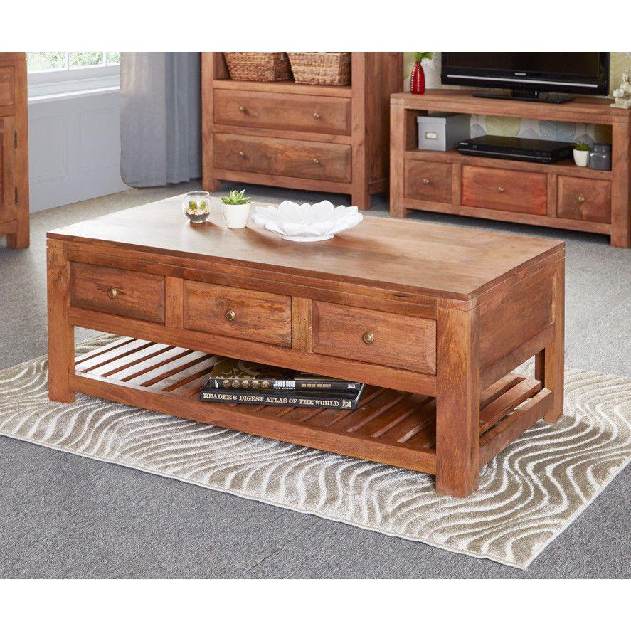 3 drawer coffee table mango wood furniture living room storage 3 drawer coffee table mango wood furniture living room storage wooden natural geotapseo Choice Image