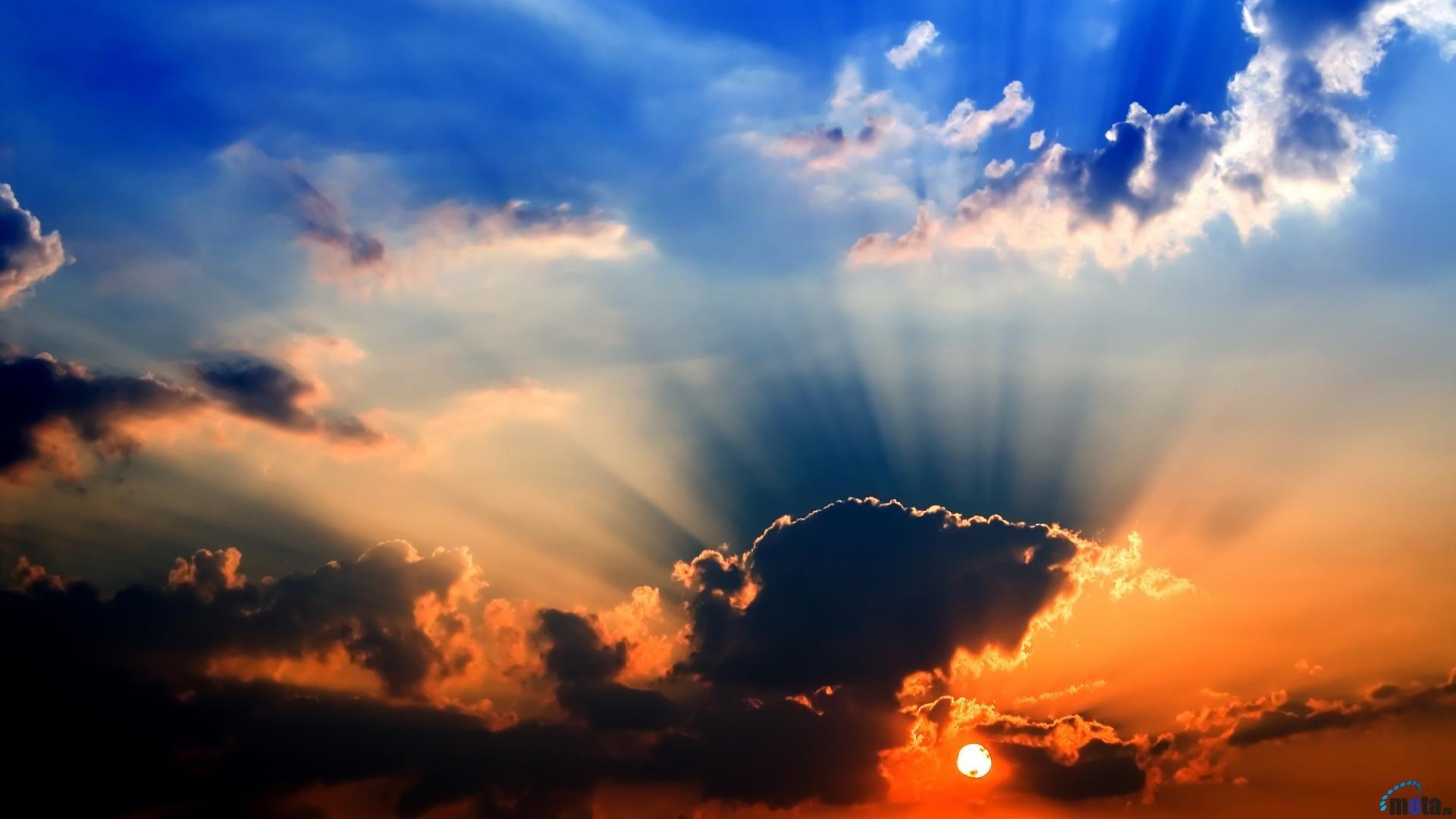 colorful sky | sunrays, cloud, clouds, colorful, sky, sun | our