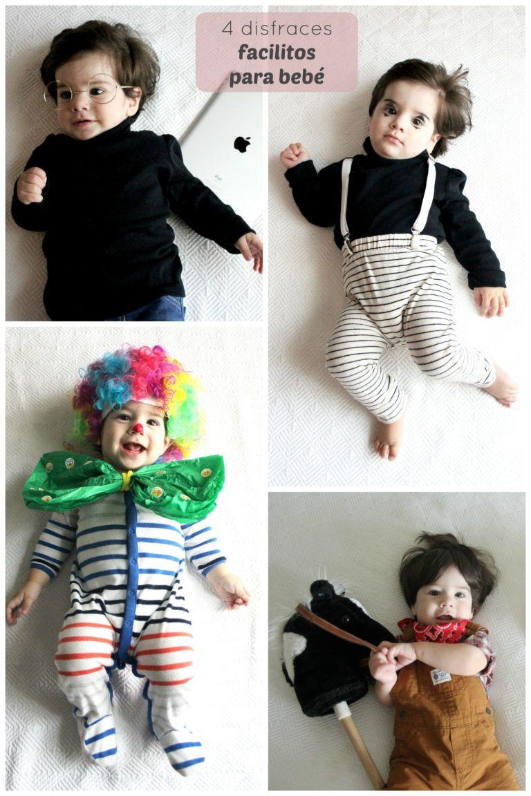 4 Disfraces Faciles Para Bebe Criandoando Com Disfraz Bebe Disfraces Bebe
