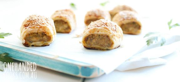 Chicken Eggplant Sausage Rolls One Handed Cooks Baby Meals