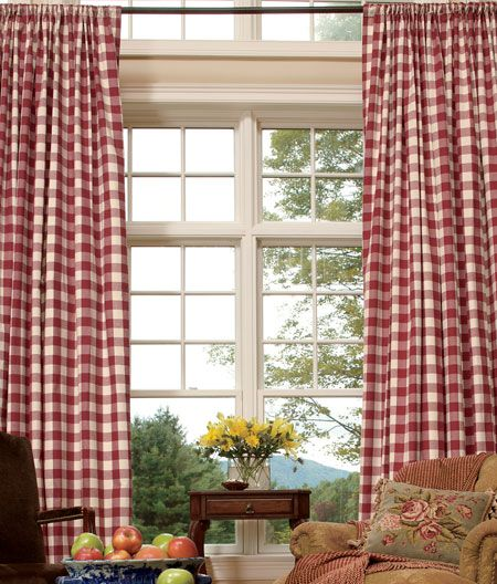 Country Red Kitchen Curtains: Affordable Buffalo Check Curtains