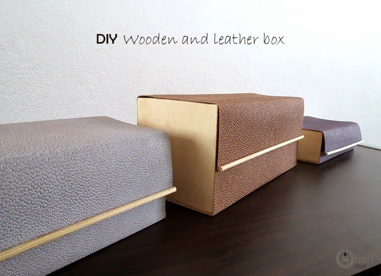 How To Make A Decorative Wooden Box Diy Wooden And Leather Box  Box Craft And Leather Crafts