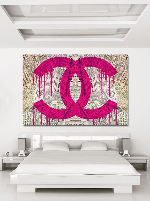 Best Read It In The News Pink Pink Canvas Art Chanel Wall 400 x 300