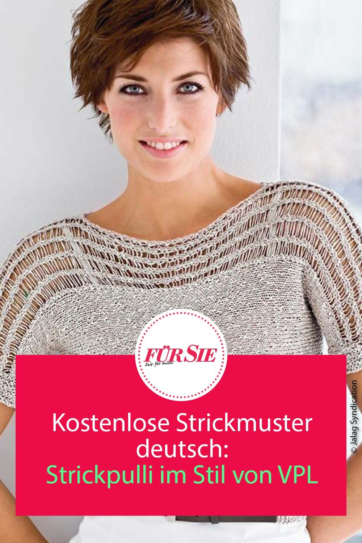 Photo of Kostenloses Strickmuster: Strickpulli im Stil von VPL